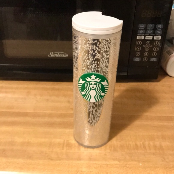 Starbucks Cup Silver / White bubble 16 oz